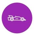 Race car line icon vector image vector image