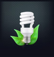realistic energy saving lamp concept vector image vector image