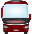 red bus vector image vector image
