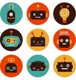 Robot cute icons and characters vector image