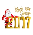 Santa Claus congratulating vector image