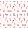 Seamless of Makeup set vector image vector image