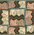 seamless pattern traditional african zigzag vector image
