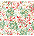 seamless pattern with green and brown bouquets vector image vector image