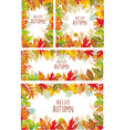 set banner autumnal leaves vector image vector image