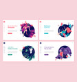 set of web page design templates for beauty vector image