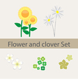 Spring and summer flower and clover collection vector image vector image