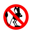 stop jerboa ban steppe animal is forbidden red vector image vector image