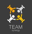 team synergy logo vector image vector image