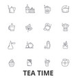 teatime tea teacup cafe tea party afternoon vector image