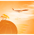 Travel concept background vector image vector image
