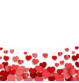 valentines day background design with heart vector image vector image