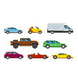 vehicle collection urban transportation in city vector image vector image