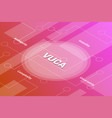 vuca words isometric 3d word text concept vector image vector image