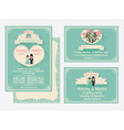 Wedding Invitation Design With The Gate Of Love vector image