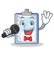 singing clipboard character cartoon style vector image