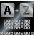 Alphabet Metal plates with rivets EPS 8 vector image