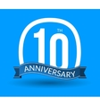 10 Anniversary numbers with ribbon Flat origami vector image