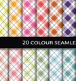 20 color seamless patterns vector image vector image