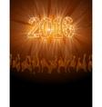 2016 happy New Year disco flyer vector image vector image