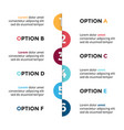 arrows semicircles timeline infographic vector image vector image