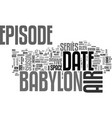 babylon dvd review text word cloud concept vector image vector image