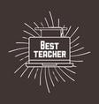 best teacher desig vector image