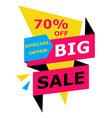 big sale special offer banner vector image vector image