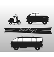 Black and white logos land transport motor vector image