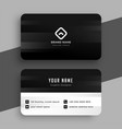 black theme and white business card design vector image vector image