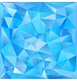 Blue glass triangles abstract background vector image vector image