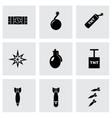 bomb icon set vector image