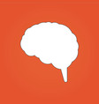 brain icon can be used for web design apps vector image