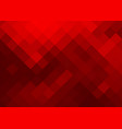 bright abstract background in red tones of squares vector image vector image