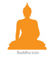 buddha icon orange color vector image vector image