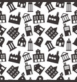 buildings icon seamless pattern background vector image vector image