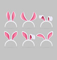 bunny ears mask easter rabbit costume photo booth vector image