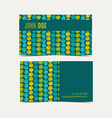 Business card backgroundTrend green flash color vector image vector image