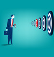 businessman and multiple targets vector image