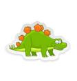 cartoon stegosaurus cute little badinosaur vector image