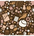 chocolate seamless pattern vector image
