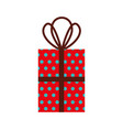 christmas gift box wrappied ribbon celebration vector image vector image