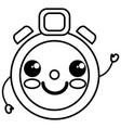 chronometer timer kawaii character vector image vector image