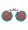 circled sunglasses unisex trendy accessories vector image