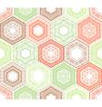 Coloured crochet hexagons vector image vector image