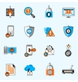 Data Security Line Icons Set vector image vector image