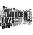 everyone loves children s wooden toys text vector image vector image