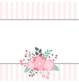 Floral Bouquet Card vector image
