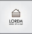 garage icon logo vector image vector image
