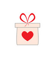 gift box with a heart vector image